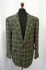 Homme Vintage Écossais Harris Tweed Veste Blazer 44R Sec Nettoyé