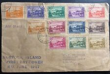 1947 Norfolk Island Australia First Day Cover To Katoomba First Stamp Sc#1-12