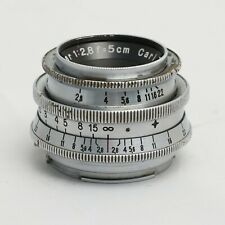 Carl Zeiss Jena Tessar 5cm f/2.8 chrome lens in Exakta mount 1937-38