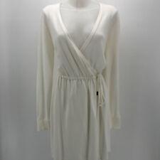 NWT Michael Kors Cream Long Sleeve Wrap Dress Size Small