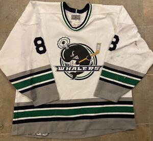 PLYMOUTH/DETROIT WHALERS Game-Used JERSEY! #8 *1990's-2000's*  Hockey/OHL