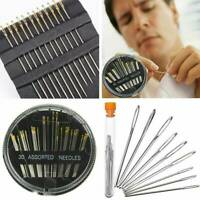 Lots 12PCS Sewing Needles Big Eye Self-Threading Embroidery Hand Sewing Needle