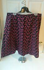 Dress Barn Woman Size 20 Black & Pink Skirt