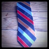 Paul Fredrick Tie Bright Multi Color Colorful Stripe Luxury Woven Silk Designer
