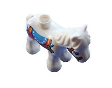 Lego Duplo Horse Pony Foal in White Printed on Circus Zoo Fair New