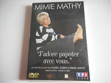 DVD - MIMIE MATHY J'ADORE PAPOTER AVEC VOUS un spectacle ecrit par MURIEL ROBIN