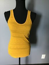 NEW WITH TAGS ~ Mossimo Textured Stretch Mustard Yellow Tank Top Size XS