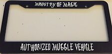 Ministry of Magic Harry Potter Style  - Black LICENSE plate frame Qty 2 Muggle
