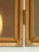ornate elegant vintage antique folding picture photo photograph frame decor