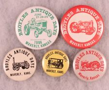 Antique Tracker - Engine Show Badges, Waverly, KS 1980's (5 pieces)