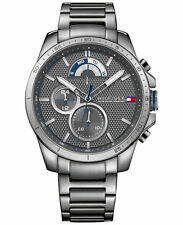 *BRAND NEW* Tommy Hilfiger Men's Cool Sport Gray Ion Plated Steel  Watch 1791347