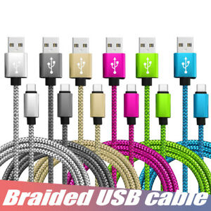 Strong Braided USB Type C Fast Charge Charger Cable for USB C Android & Samsung