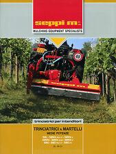 """PUBBLICITA'/WERBUNG *SEPPI M. S.p.A. ( CALDARO/BZ) : """" TRINCIATRICI A MARTELLI """""""