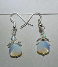 Heart Opalite Drop/Dangle Costume Earrings