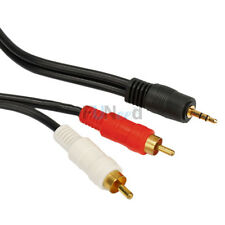 New Computer 1/8 3.5Mm Male Mini Plug To 2-Rca Stereo Audio Cable US