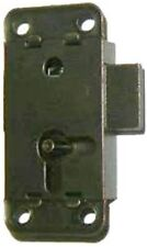 "M-1851  SMALL FLUSH MOUNT LOCK WITH STATUARY BRONZE FINISH 2"" LONG X 1"" WIDE"