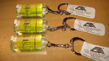 3 MINIATURE POCKET LEVEL KEYCHAINS MADE BY CTA TOOLS