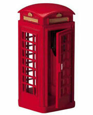 LEMAX CHRISTMAS VILLAGE HOUSE ACCESSORIES - RED ENGLISH TELEPHONE BOOTH #44176