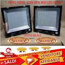 FARO FARETTO PER ESTERNO 200W CON 800 LED INTEGRATI IP 66 18000 LUMENS NOVITA'