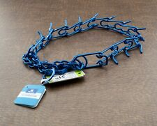 """Top Paw Snap On Prong Dog Training Collar Blue Chain Large 4.0 Mm X 27"""""""
