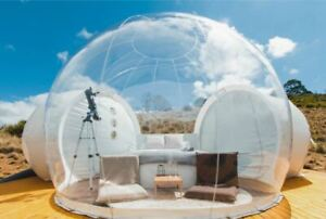 Inflatable Commercial Grade PVC Clear Eco Dome Camping Bubble Tent W/ FAN