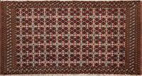 Traditional Geometric Bokhara Oriental Area Rug Hand-knotted Wool Carpet 2x4 ft