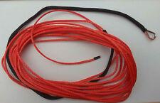 4mm X 15M + SSeye Orange UHMWPE Dyneema Fiber Synthetic Winch marine rope 1500kg