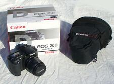 NEW Canon EOS-20D, Shutter Count = 14, Digital SLR, EF-S 18-55 Zoom Kit, Case