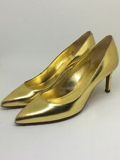 Sonia Rykiel Women's Real Leather court shoes Gold UK size 3, EU size 36, US 5.5