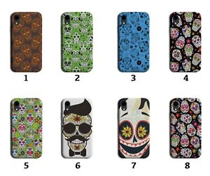 Floral Sugar Skull Pattern Phone Case Cover Patterned Gothic Goth Skeleton 8240G