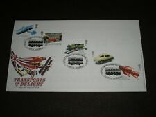 2003 GB Stamps TRANSPORTS OF DELIGHT FDC DINKY TRAMS LIVERPOOL Cancels Scarce