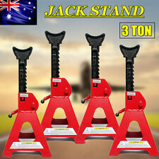 AU 4pc Car Jack Stand 3T 3000kg Ratchet Adjustable Lift Hoist Heavy Duty Steel