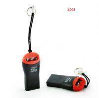 For Laptop PC 2XUSB 2.0 Micro SD SDHC TF Memory Card Reader Mini Adapter