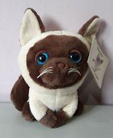 Brown Siamese Cat Blue eye Plush Stuffed Animal Soft Toy Artlist International