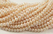 3.5-4 mm Light Baby Pink Potato Freshwater Pearl Beads, Baby Pink Pearls (#460)