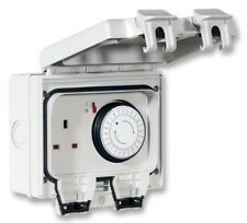 IP66 Outdoor Single Socket with 24h Timer Controlled 13A Garden Lighting