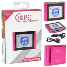 "Eclipse Fit Clip Plus Pk 8Gb Mp3 Digital Music/Vid 00004000 eo Player 1.8""Lcd+Fm+Pedometer"