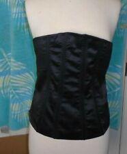H&M  Women's CORSET Size 4 Black Tie Back Strapless Top sz 12