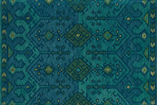 7'x9' Loloi Rug Gemology Wool Green Teal Hand-made Contemporary GQ-02