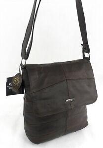 Ladies Genuine Real  Leather Across Body Bag Handbag Messenger Shoulder Bag Br