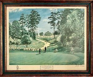 1968 US MASTERS GARY PLAYER LITHOGRAPH - ARTIST SIGNED - LOWEST PRICE ON THE NET
