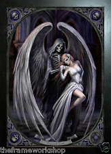 Kunst ANNE STOKES BLACK FRAMED ANGEL THE BLESSING Antiquitäten & Kunst 3D MOVING PICTURE 465mm x 365mm