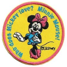 """1 Cool Minnie Mouse Heart Sunglasses Pink Bow Iron On Sew On Patch  2.5/""""L x 3/""""W"""