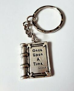 Once Upon a Time Book Fairytale Keyring Keychain Womans Girls Bag Charm Gift UK