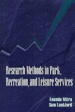 Research Methods in Park, Recreation, and Leisure Services-ExLibrary