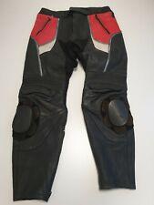 Men/'s Biker in Pelle Pantaloni SPORCHI ROSSO Laced Moto Stile 100/% Pelle di Agnello 00126