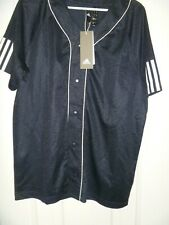 Nwt Mens Adidas Athletics Sport Baseball Jersey Ds9230 Size Medium Navy Blue