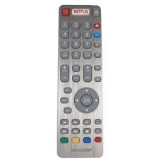 Genuino Sharp Aquos RF Smart TV remoto control con Netflix red YouTube botones