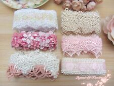 LOT~12Y Assorted Beautiful Venise Lace Trim~Pink/Beige/White~Group 06~LOVELY~