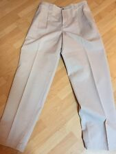 Abercrombie & Fitch - Pleated Beige Khaki Chino  Dress Pants Men Sz 36 X 34 EUC